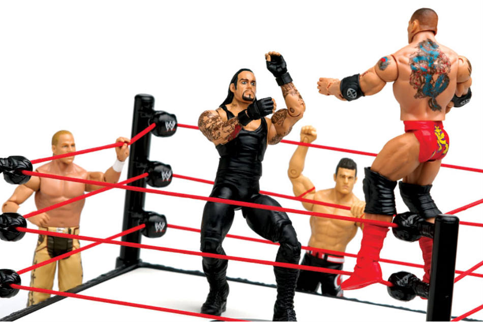 Action figures of WWE stars