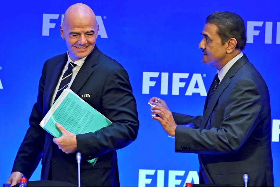 Praful Patel (right) will continue to serve as the AIFF president