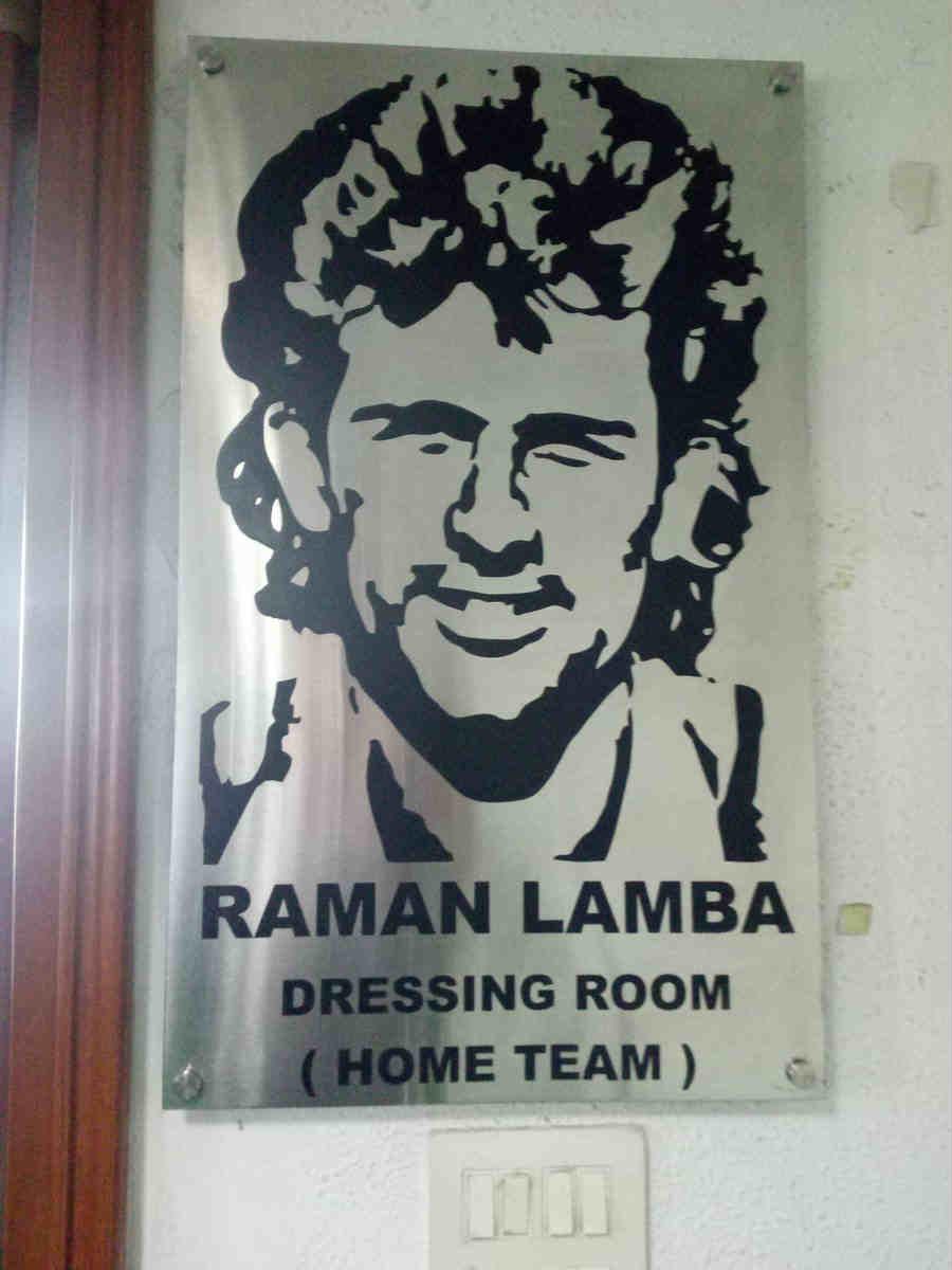 Raman Lamba Dressing Room At Kotla