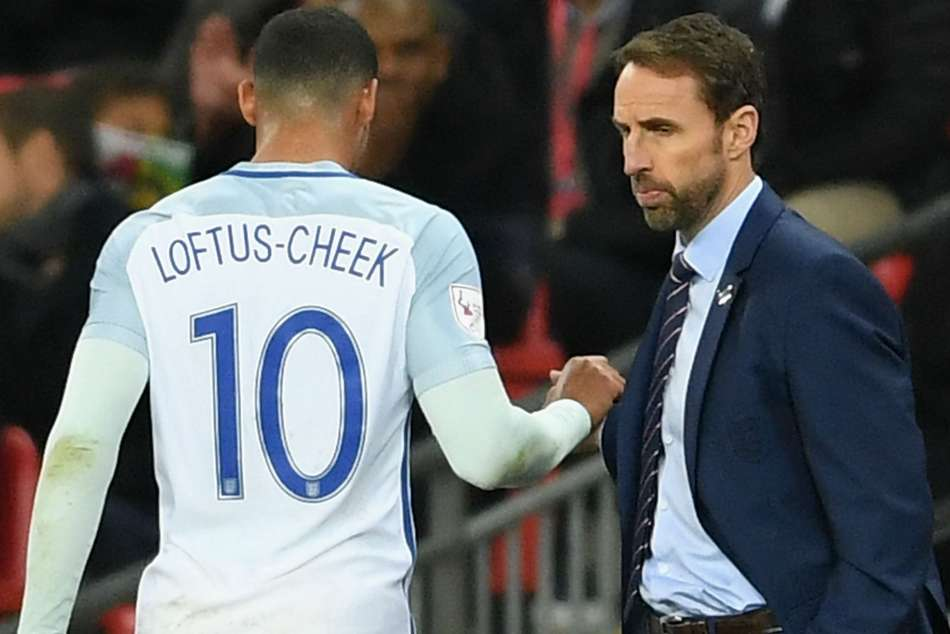 Ruben Loftus-Cheek (left) and Gareth Southgate