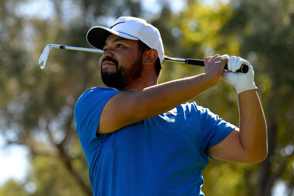 J.J. Spaun in action at timberlake shriners hospitals for children open