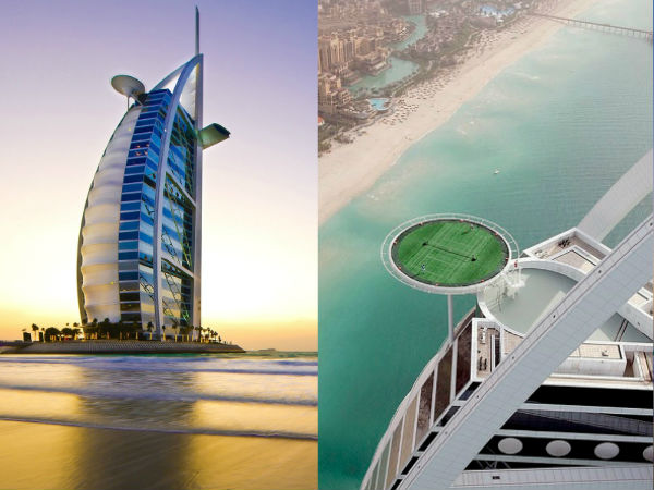 The man-made island, United Arab Emirates is known for many famous things and one of which is, Burj al-Arab.