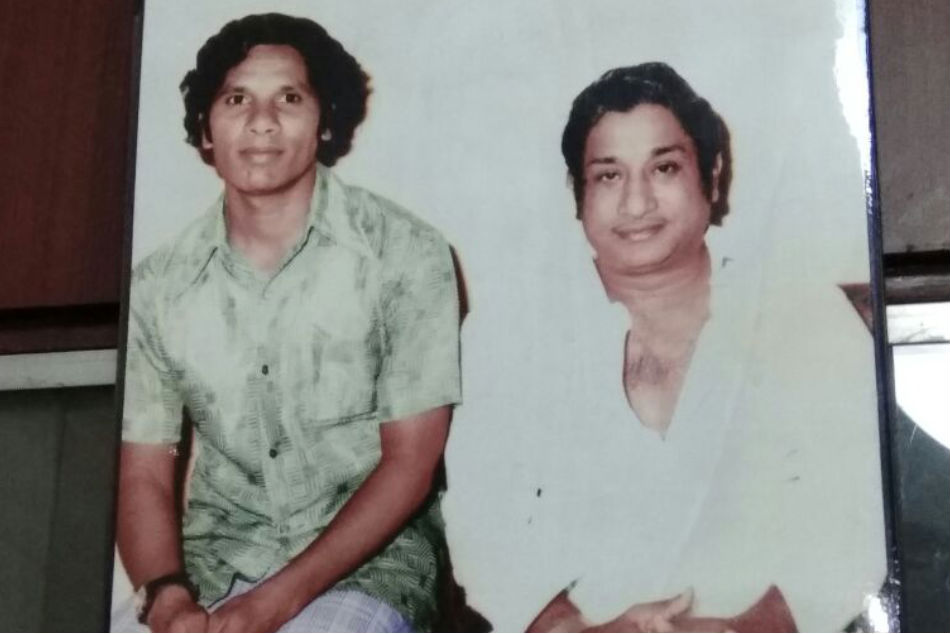 A file picture of Thomas (left) with Tamil actor Shivaji Ganesan