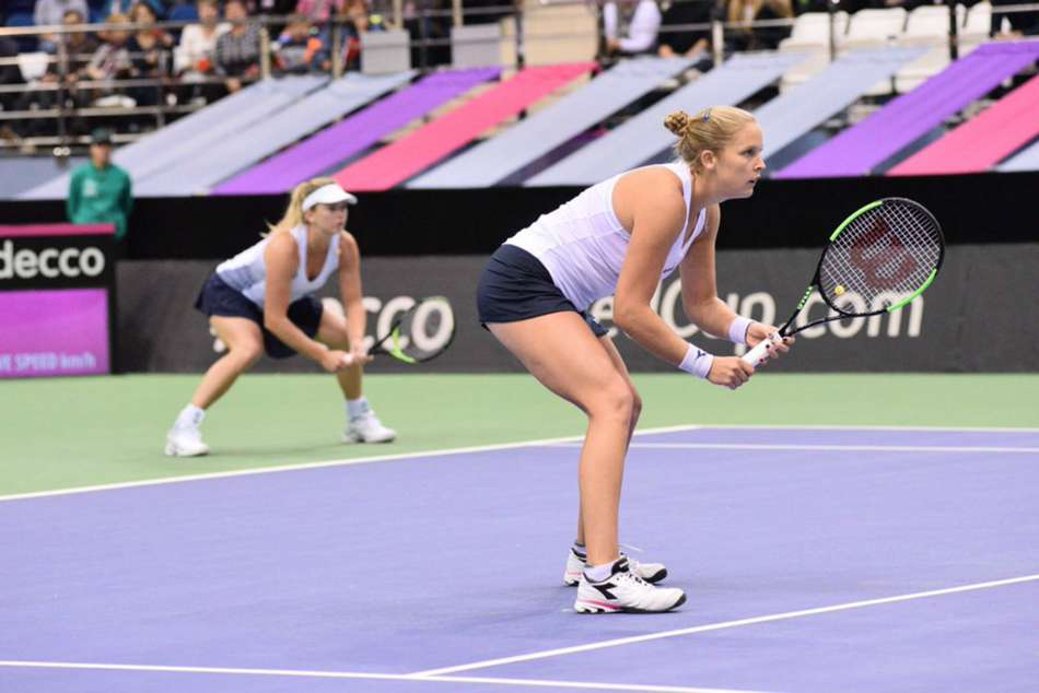 Team USA in Fed Cup action