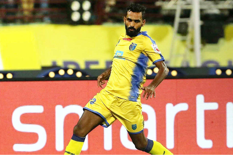 CK Vineeth in Kerala Blasters colours (Image courtesy: ISL Media)