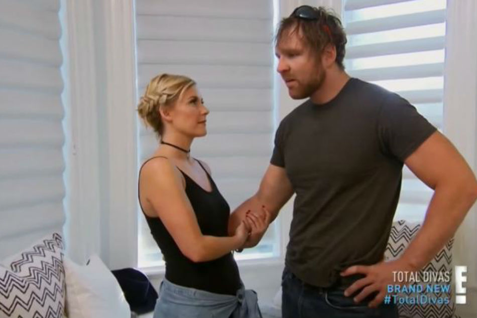 Renee Young (left) & Dean Ambrose (image courtesy Youtube)