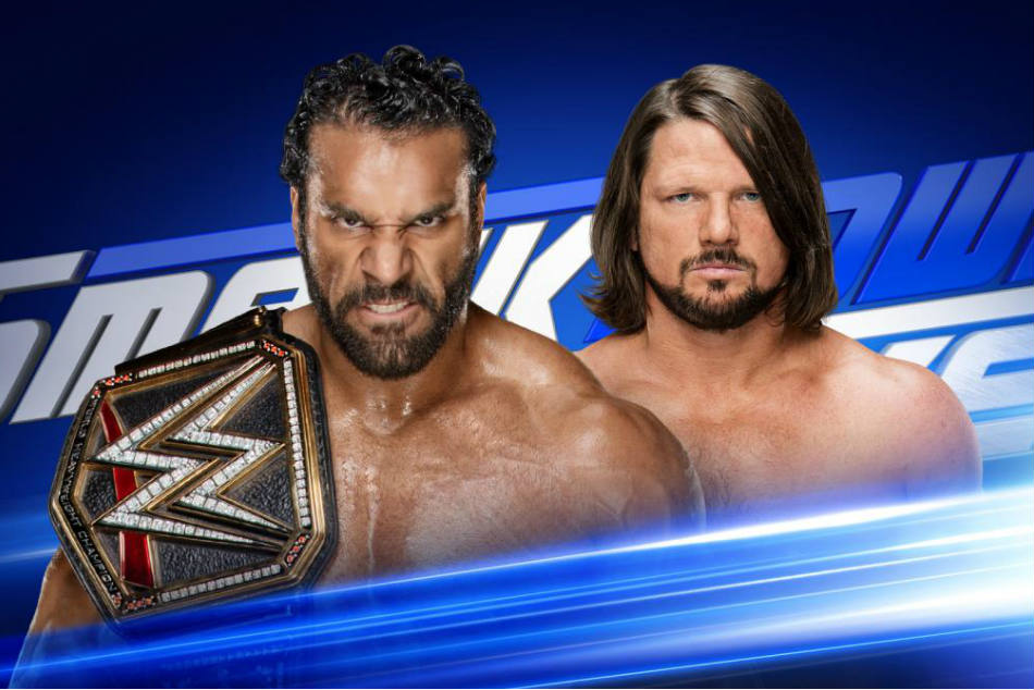 Jinder Mahal (left) vs. AJ Styles (image courtesy WWE.com)