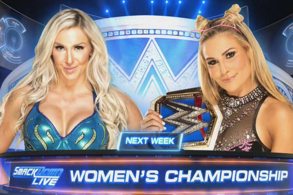 Charlotte Flair (left) vs. Natalya (image courtesy Twitter)