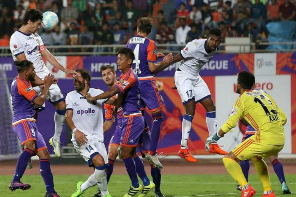 Henrique Sereno scored the winner for the visitng Chennai outfit. ISL Media