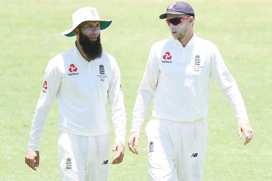 England's Moeen Ali (left) and captain Joe Root