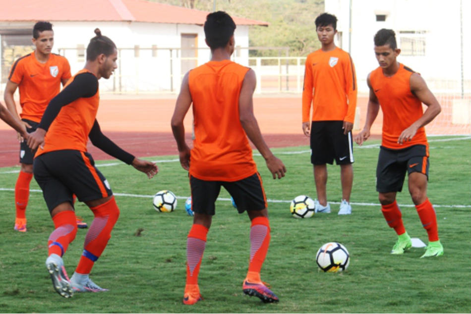 Indian Arrows players during a training session (Image courtesy: AIFF Media)
