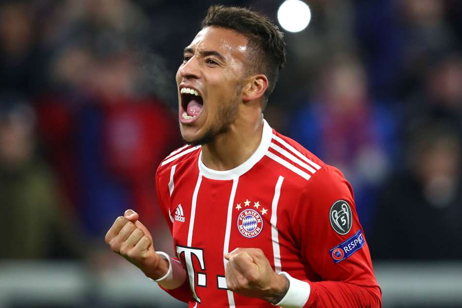 Corentin Tolisso scored twice for Bayern versus PSG