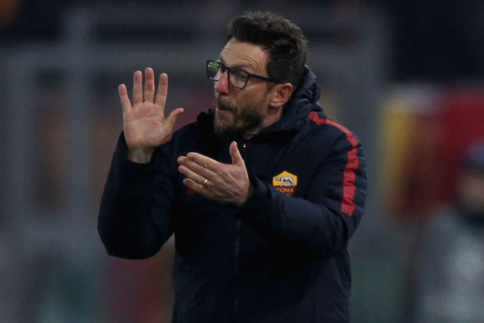 AS Roma coach Eusebio Di Francesco