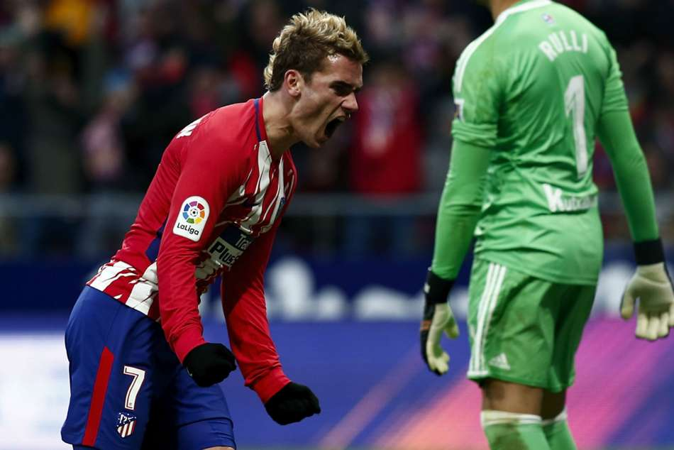Atletico's Antoine Griezmann scores winner against Real Sociedad