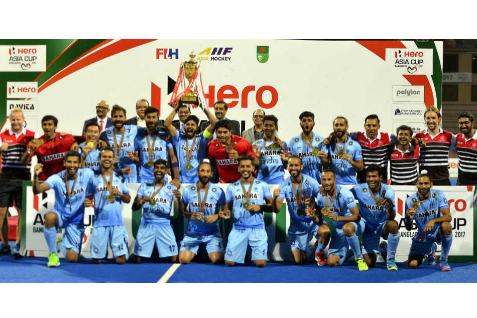 The Indian men's team were triumphant in the Asia Cup as well