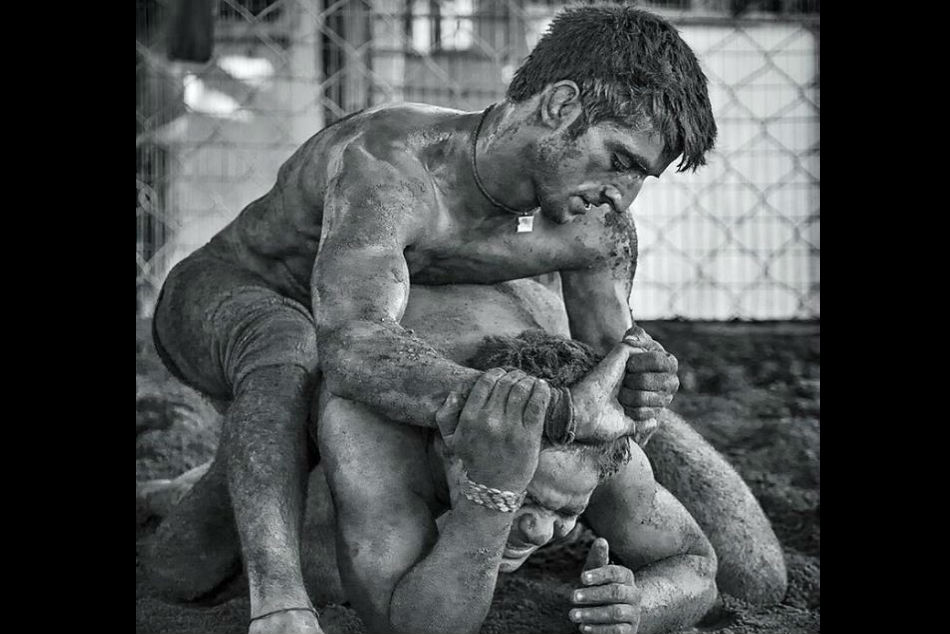 Wrestling His Father Works At Car Parking Suraj Kant Dreams Donning India Shirts