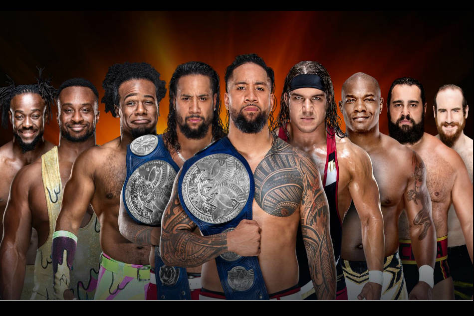 Tag team title match poster at Clash of Champions (image courtesy WWE.com)