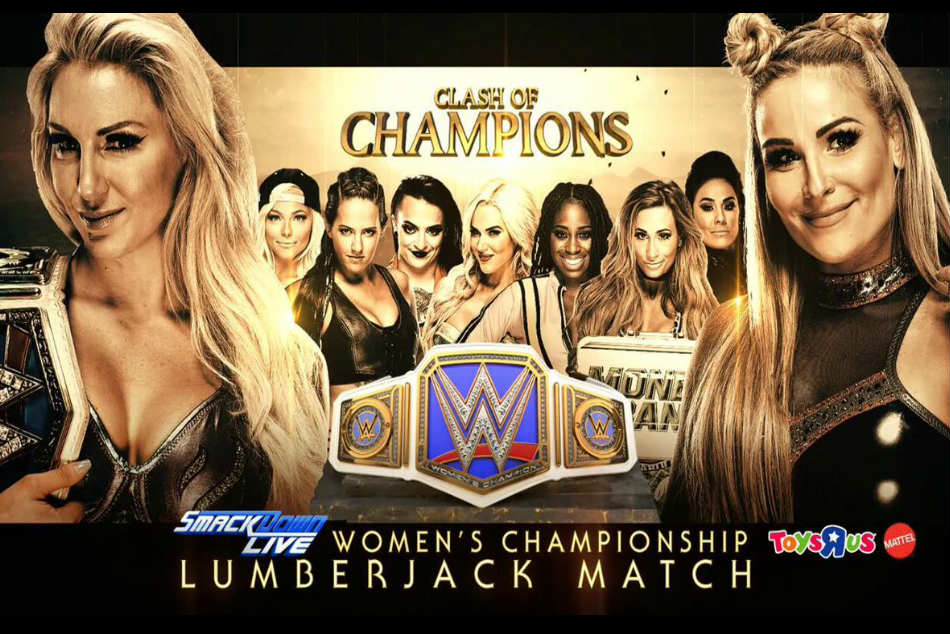 Smackdown women's title match poster (image courtesy Twitter)