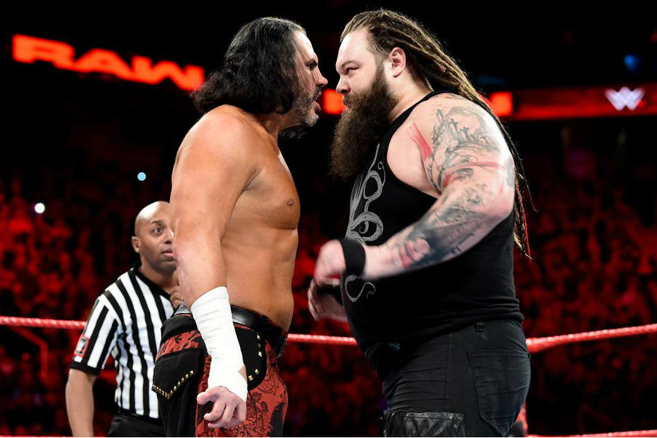 Matt Hardy (left) vs. Bray Wyatt (image courtesy WWE.com)