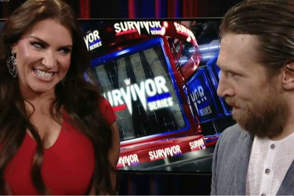 Stephanie McMahon (left) & Daniel Bryan (image courtesy Twitter)
