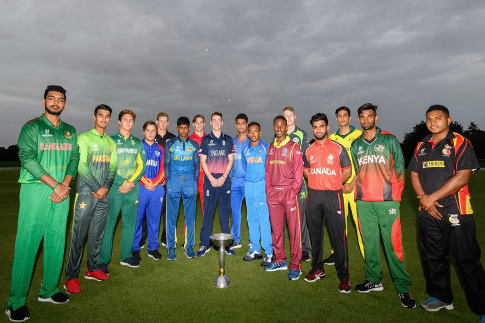 Captains of teams participating in the ICC U-19 World Cup 2018
