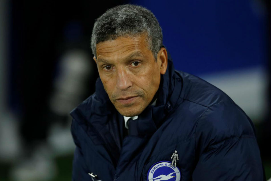 Brighton and Hove Albion manger Chris Hughton