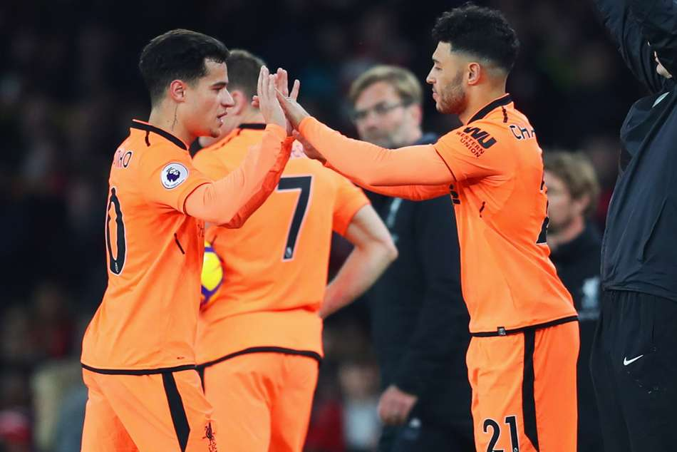 Philippe Coutinho (left) and Alex Oxlade-Chamberlain