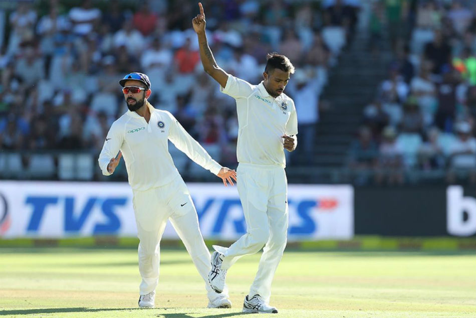 India Vs SA, 1st Test, Day 2: Pandya dismisses Markram-Elgar in quick succession