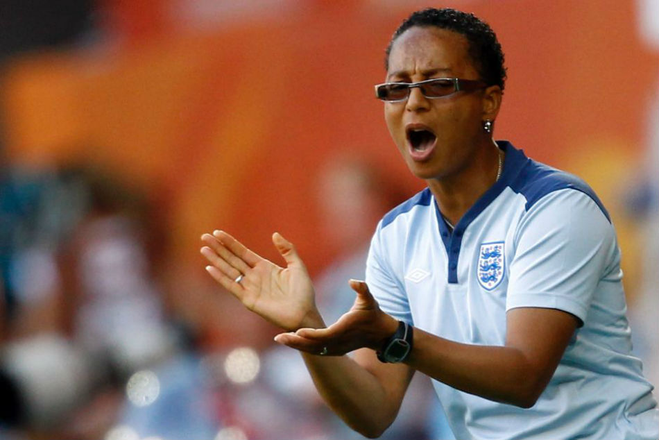 Brighton and Hove Albion women's team coach Hope Powell