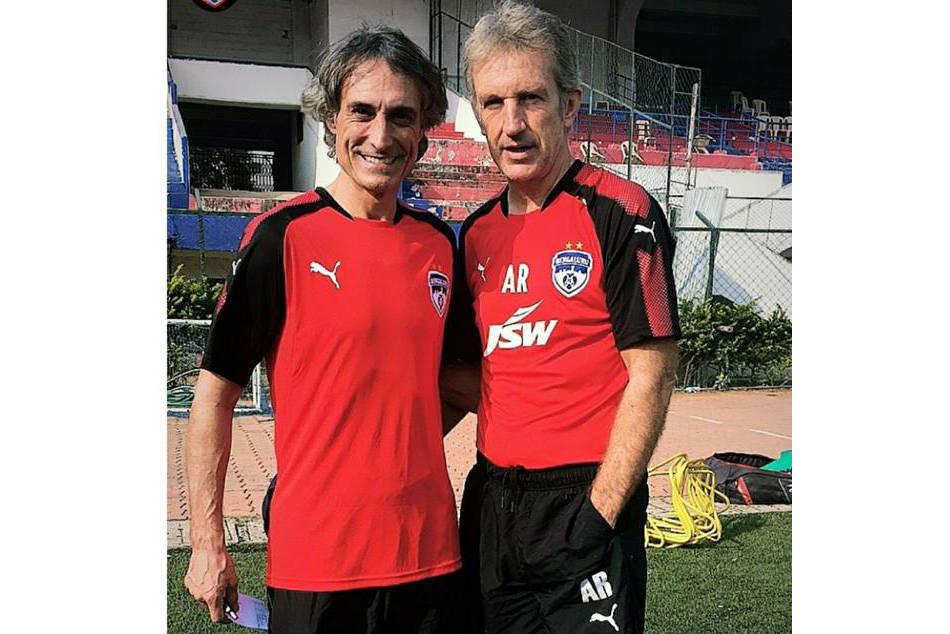ceb3adb59 Bengaluru FC coach Albert Roca (right) with new assistant coach Marc Huguet  (Image