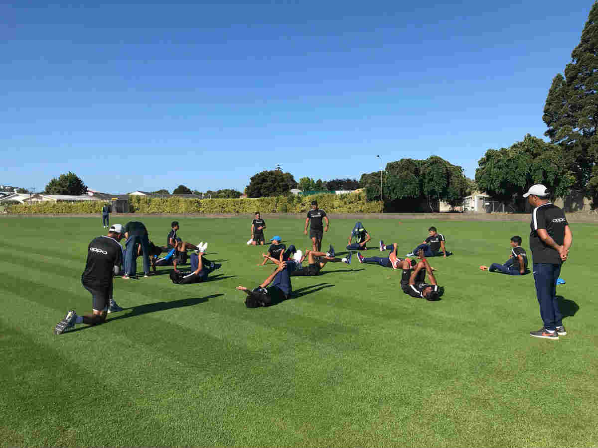 India U19 team preparing for the match against Australia