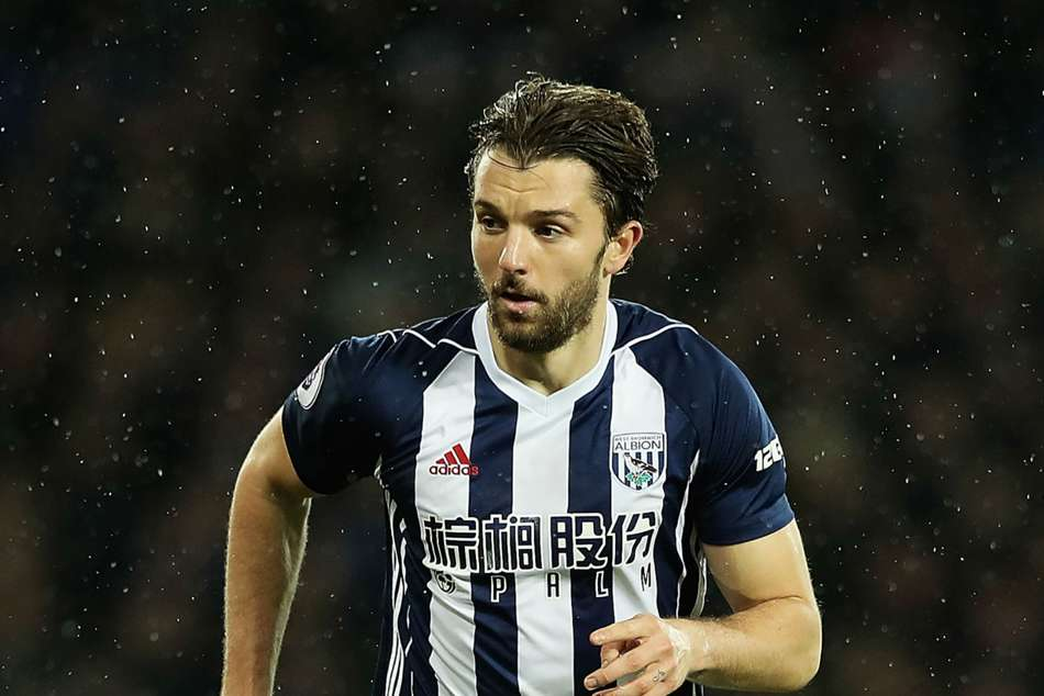 West Brom striker Jay Rodriguez