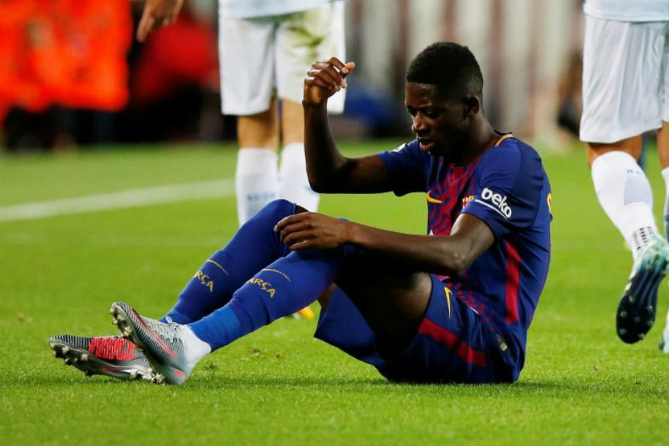 Ousmane Dembele picked up an injury just weeks after his big-money move to Barcelona
