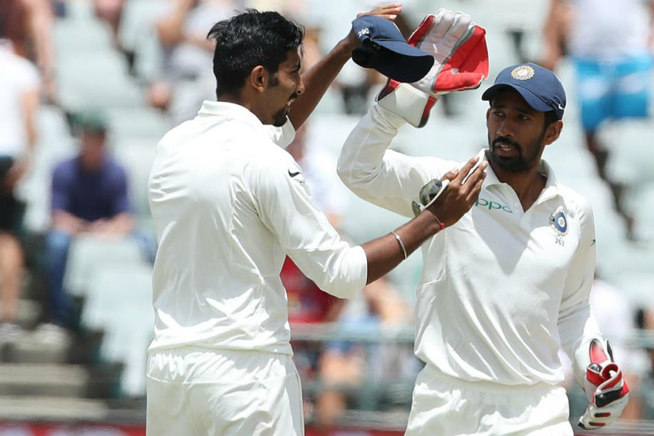 Wriddhiman Saha surpasses MS Dhoni's record of most dismissals in a Test as Indian wicketkeeper