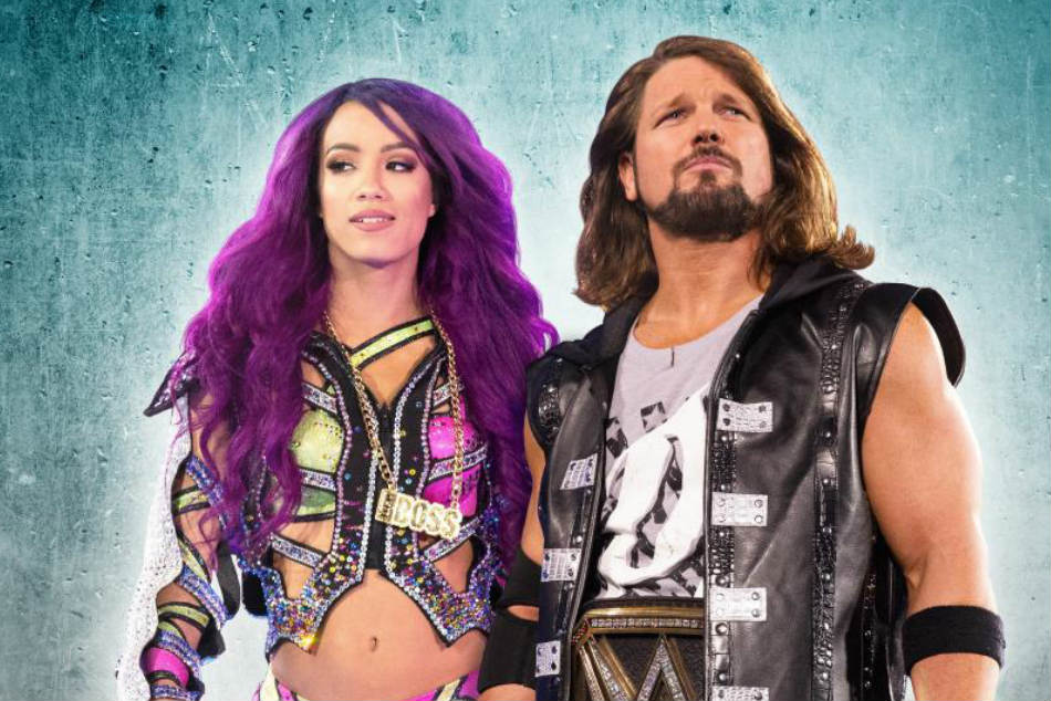 Sasha Banks (left) & AJ Styles (image courtesy WWE.com)