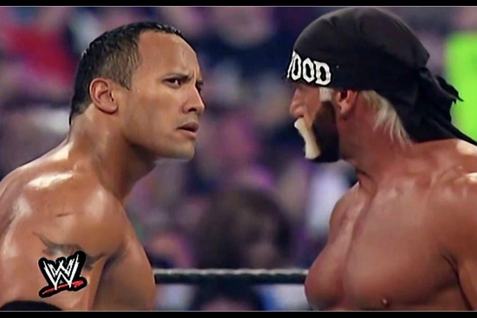 The Rock (left) & Hulk Hogan (image courtesy Dailymotion)