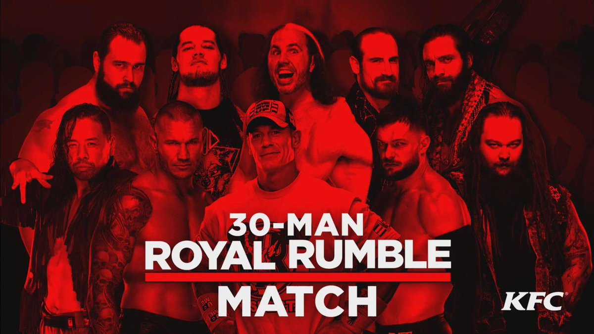 Image result for mens royal rumble match 2018 poster
