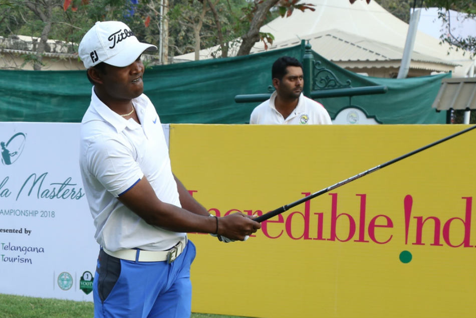 M Dharma Seizes Opening Lead With Top Class 64 At Golconda M