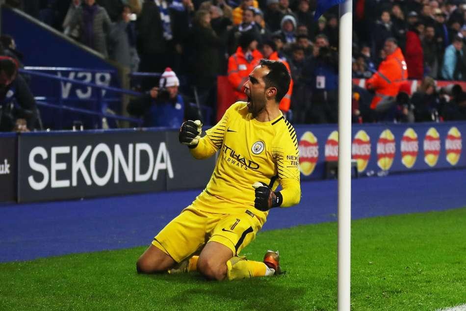Claudio Bravo Pep Guardiola Wembley Manchester City