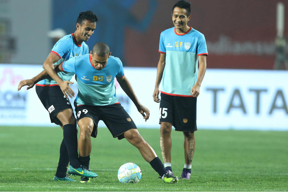 NorthEast United FC players during a training session (Image: ISL Media)