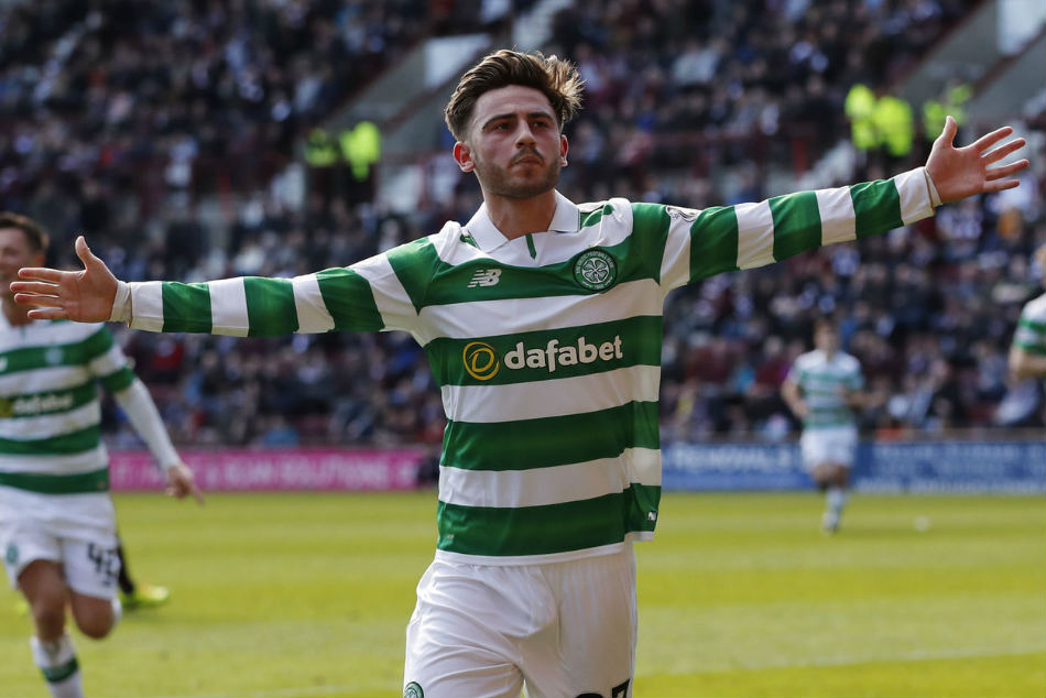 Manchester Citys Patrick Roberts spent last season on-loan at Celtic