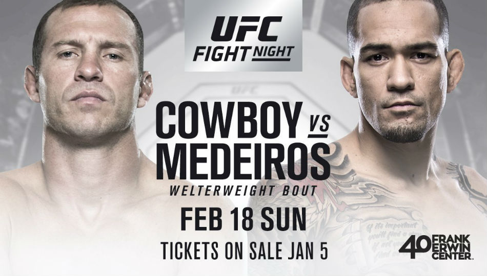 UFC Fight Night: Cowboy vs. Medeiros takes place in Austin, Texas