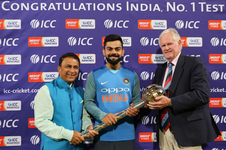 Virat Kohli Receives Icc Test Championship Mace Team India No Ranked Test Side
