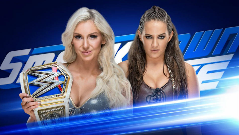 Charlotte Flair (left) & Sarah Logan (image courtesy WWE.com)