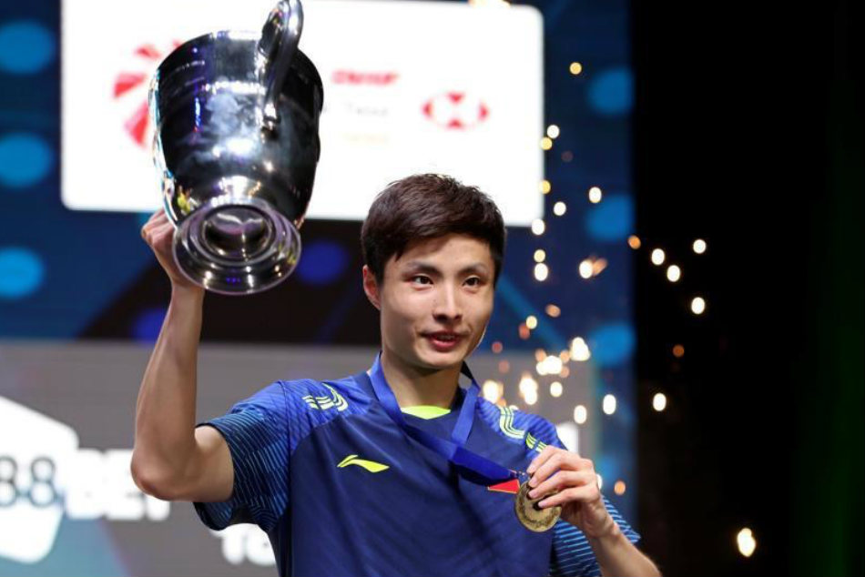 All England Championship Shi Yuqi Stuns Lin Dan Lift Title