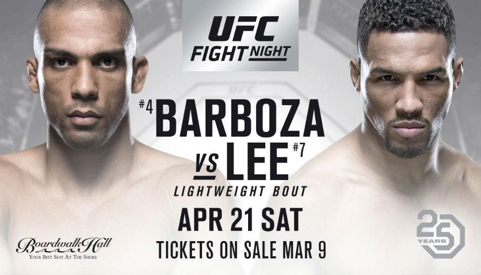 Ufc Fight Night 128 Barboza Vs Lee Fight Card Tv Schedule