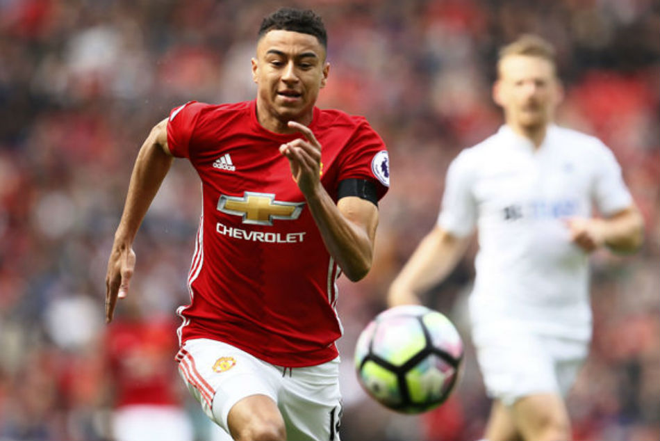 Manchester United star Jesse Lingard