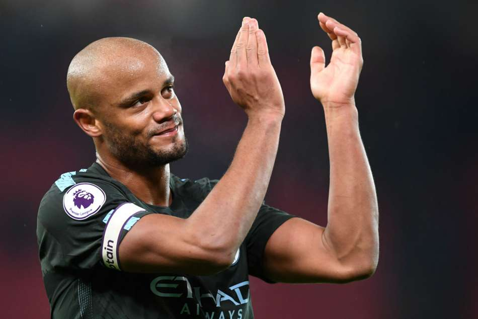 Manchester City club captain Vincent Kompany