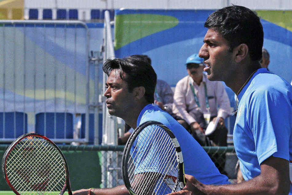 Leander Paes (left) and Rohan Bopanna were named in the Davis Cup squad for the tie against China in April