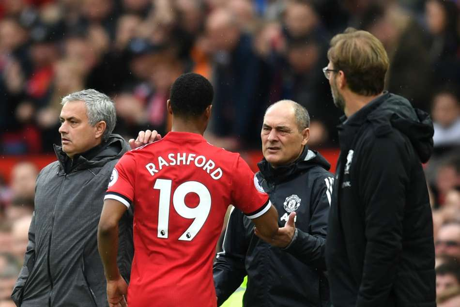 Manchester United's hero Marcus Rashford substituted during the second half